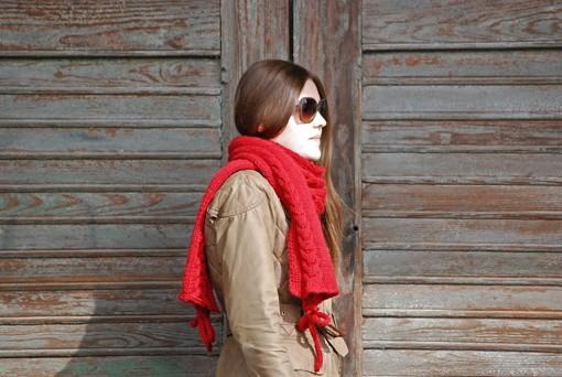 Schal stricken Herbstsonne 6 72