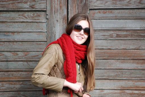 Schal stricken Herbstsonne 9 72