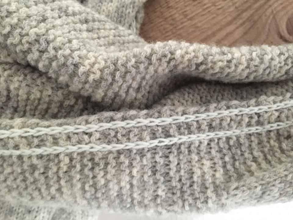 Alpaka Schal Forar Detail