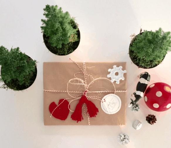 Wollreste verwerten weihnachtlich