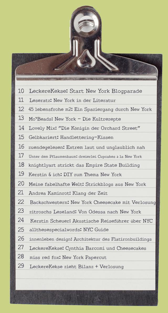 New York New York Blogparade von leckerkekse.de